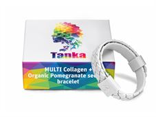 טנקה צמיד מולטי קולגן ושמן זרעי רימונים TANKA MULTI COLLAGEN + Organic Pomegranate Seed Oil Bracelet כליל הטבע